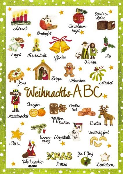 Weihnachs ABC - Postkarte