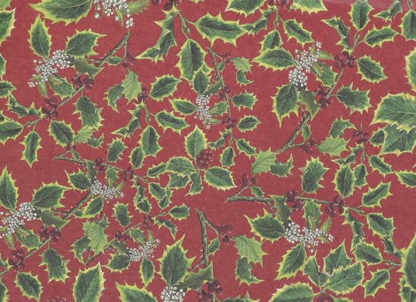 Stechpalme - Weihnachtspapier