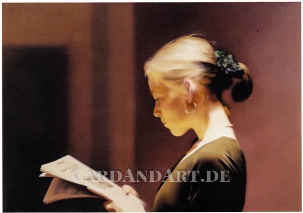 Richter, Gerhard: Lesende - Postkarte