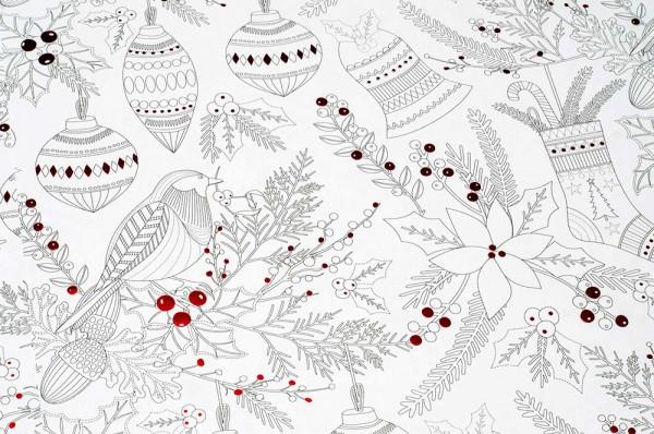 Christmas Colour in - Geschenkpapier Weihnachten zum Ausmalen