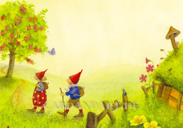 Pippa und Pelle wandern - Postkarte-Copy