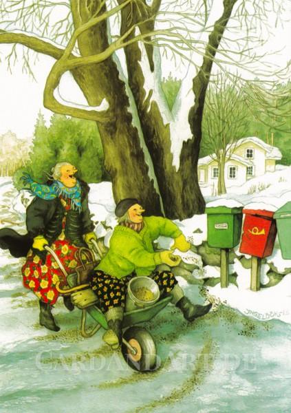Inge Löök: Vorsicht Glatteis - Postkarte Nr. 37