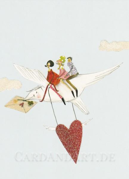 Herzensbotschaft - Postkarte Silke Leffler