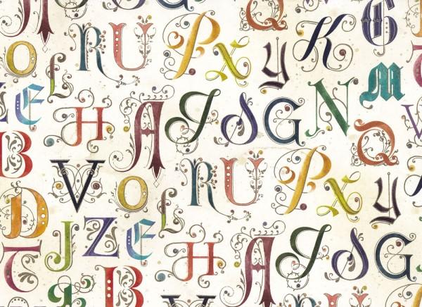 Alphabetum - Geschenkpapier Italien