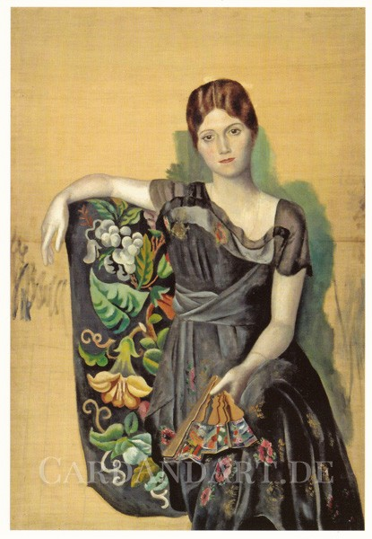 Picasso: Olga im Sessel - Postkarte