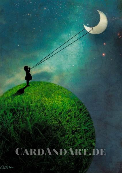 Mond/ The Moon/ La lune - Postkarte