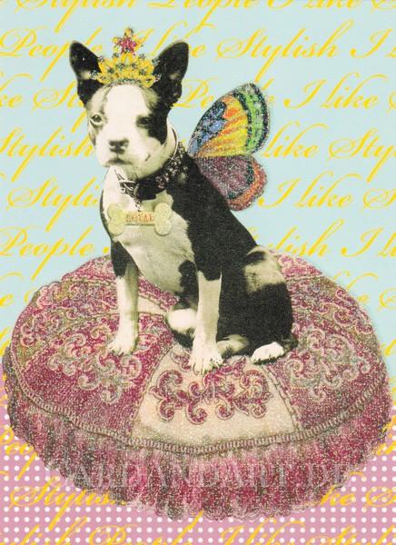 Ihre Majestät, die Schmetterling-Prinzessin - Postkarte