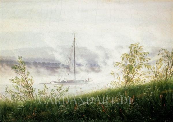 Friedrich, Caspar David: Flussufer im Nebel - Postkarte