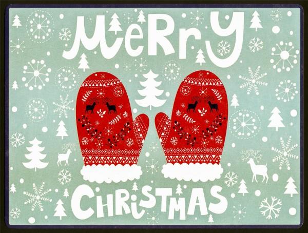 Merry Christmas - PosterCard & Kuvert - Maxikarte