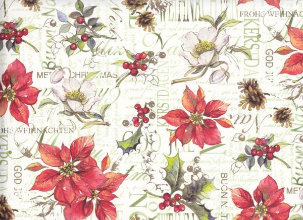 Weihnachtsblumen - Carta Varese Geschenkpapier