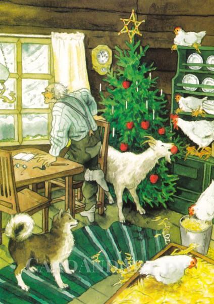 Inge Löök: Weihnachten am Bauernhof - Postkarte Nr. 214