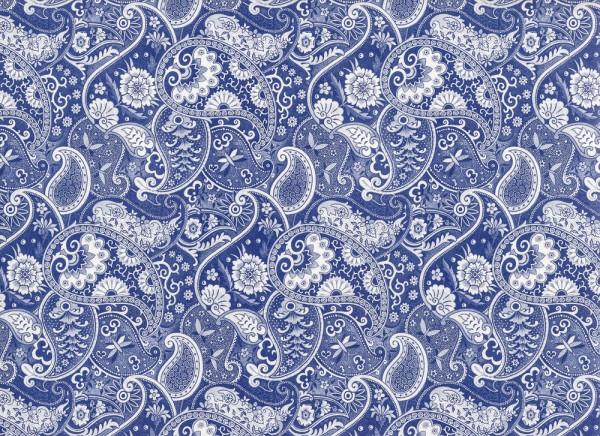 Kaschmir, blau - Carta Varese Geschenkpapier