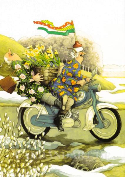 Inge Löök: Früüühling - Postkarte Nr. 34