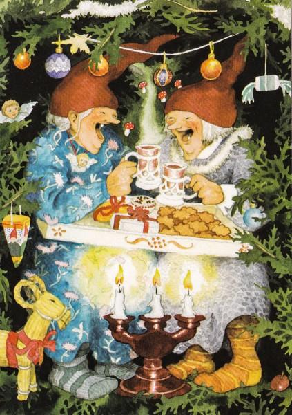 Inge Löök: Weihnachtlicher Kaffeeklatsch - Postkarte Nr. 65