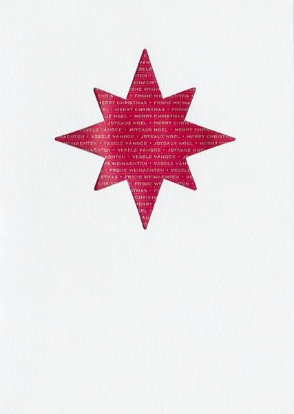 Red Christmas Star - Weihnachtskarte
