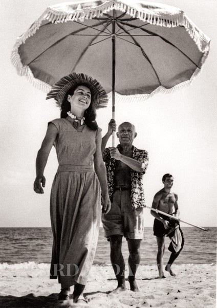 Picasso und Francoise Gilot - Postkarte