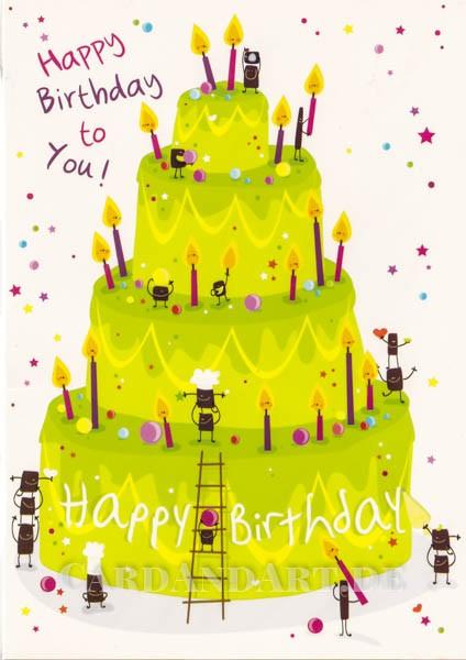 Happy Birthday to You - Klappkarte mit Kuvert