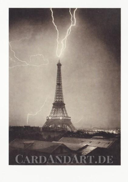 Loppé, Gabriel: La Tour Eiffel vom Blitz getroffen - Postkarte