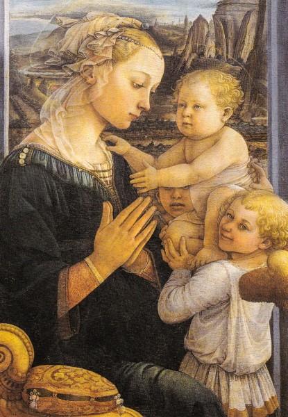 Filippo Lippi - Madonna mit Kind - Postkarte