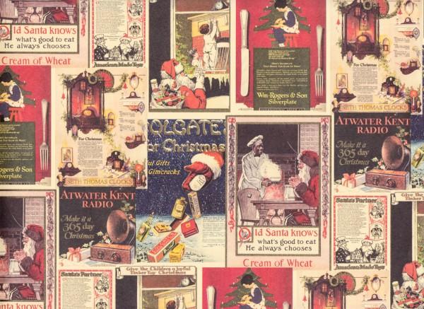 Santa Claus Weihnachtswerbung - Geschenkpapier