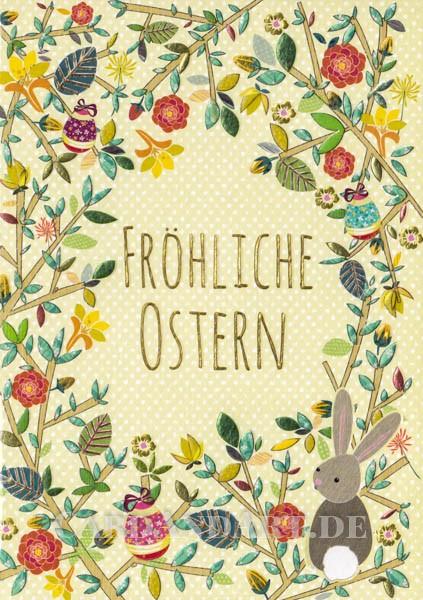 Fröhliche Ostern - Doppelkarte
