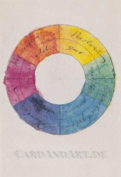 Goethes Farbenkreis - Doppelkarte