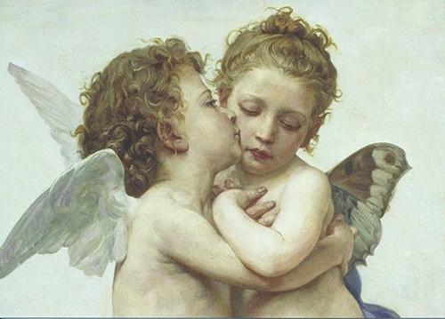 Bouguereau - Il Primo Bacio - Engelskuss - Postkarte