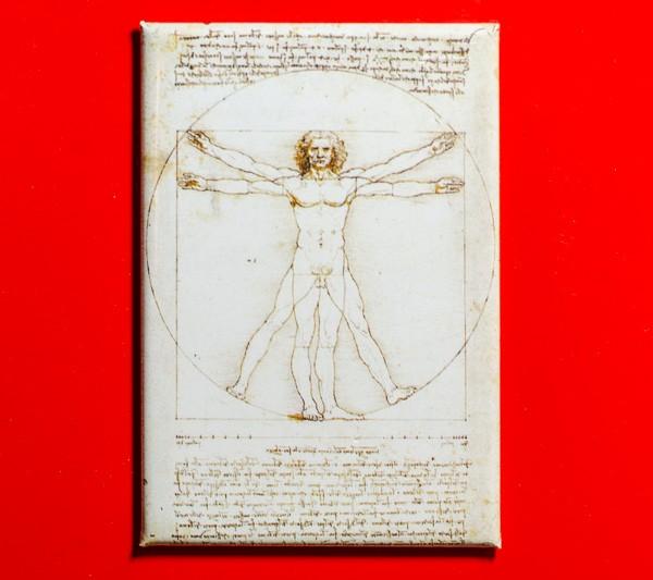 Vitruvianischer Mensch von Leonardo da Vinci - Magnet