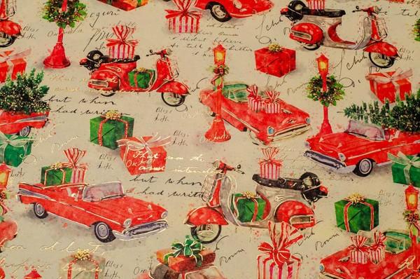 X-Mas on Tour - Geschenkpapier Weihnachten