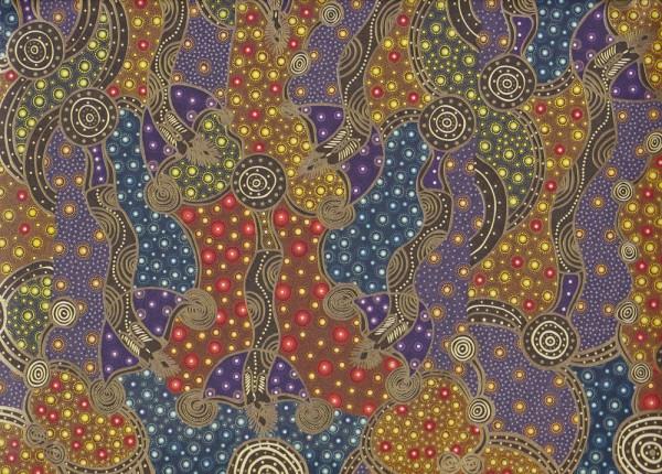 Aborigeno - Carta Varese Geschenkpapier mit goldfarbenen Akzenten