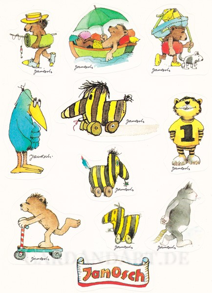 Janosch Sticker - Aufkleber - Postkarte