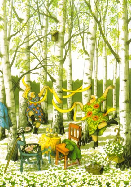 Inge Löök: Tanz in den Frühling - Postkarte Nr. 36