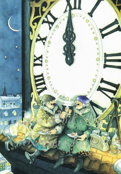 Inge Löök: Prosit Neujahr - Postkarte Nr. 19