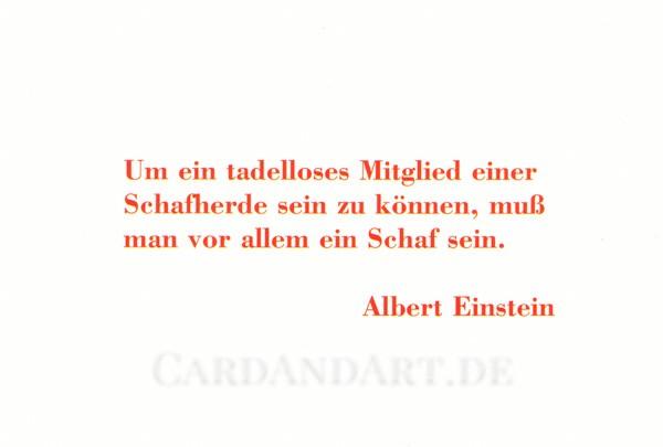 Einstein Albert: Um ein tadelloses Mitglied einer Schafherde ... Postkarte
