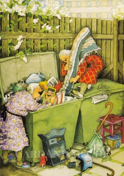 Inge Löök: Frauen und Sperrmüll - Postkarte Nr. 12