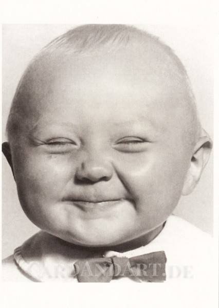 Babygrinsen - Postkarte