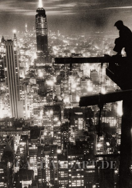 New York Nightlights - Postkarte