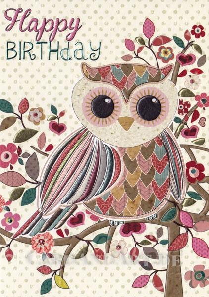 Happy Birthday - Klappkarte mit Kuvert
