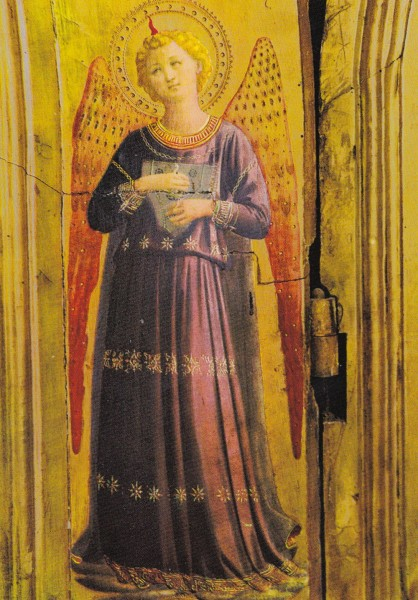Fra Angelico - Musizierender Engel - Postkarte