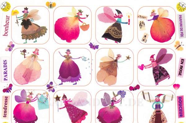 Feen - Postkarte mit Stickern