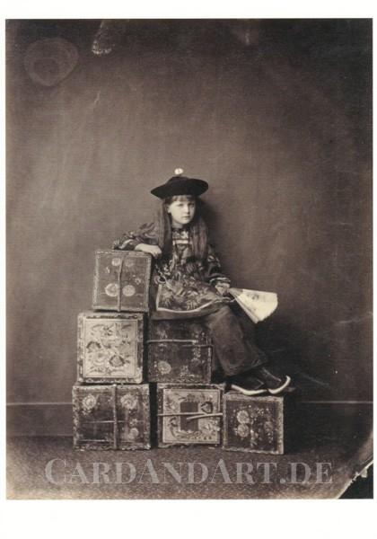 Alexandra Xie Kitchin als chin. Teehändlerin - Postkarte