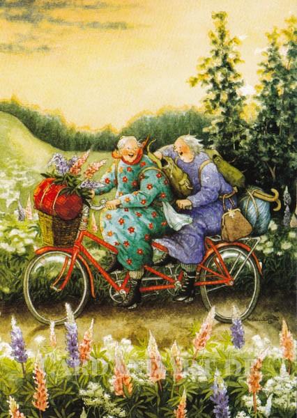 Inge Löök: Ausflug mit Tandem - Postkarte Nr. 68