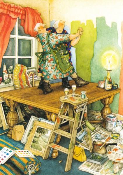 Inge Löök: Tanz auf dem Tisch - Postkarte Nr. 64