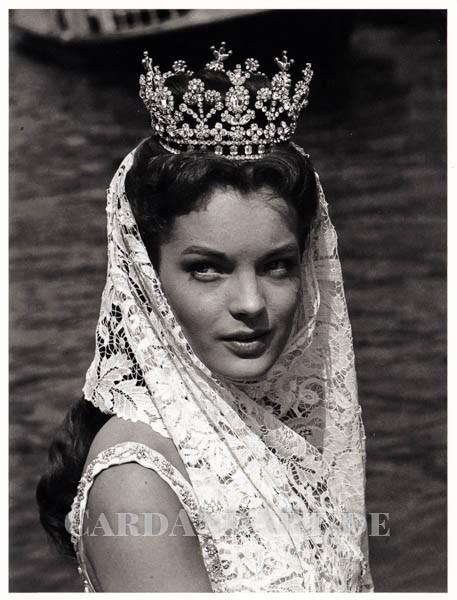 Romy Schneider als Sissy 1957 - Postkarte mit Kuvert