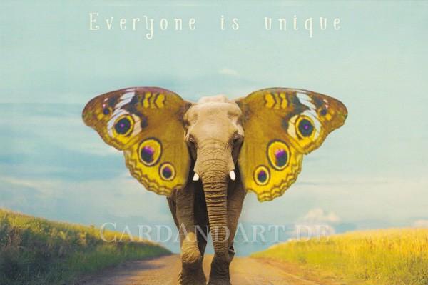 Everyone is unique - Postkarte