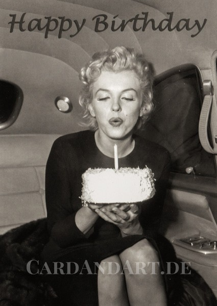 Marilyn Monroe - Happy Birthday - Postkarte