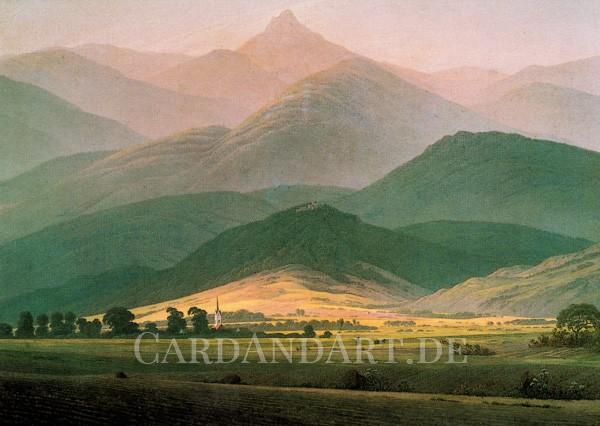 Friedrich, Caspar David: Berglandschaft - Postkarte