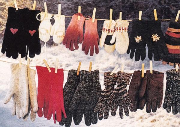 Handschuhparade - Postkarte