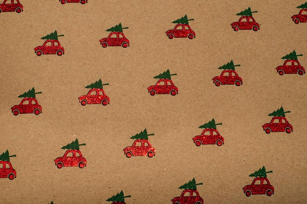 Driving Home For ChristmasDriving Home For Christmas - Geschenkpapier mit Glitzereffekten