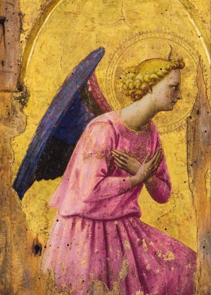 Fra Angelico - Anbetender Engel - Postkarte